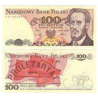 Польша. 100 злотых 1988 г. [P.143.e] UNC