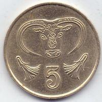 Кипр,  5 центов 1987 года.