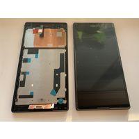 Sony D5303, D5306 Передняя панель с дисплеем и сенсорным экраном, Black, original (PN:1281-7414)
