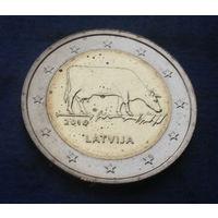 Латвия 2 евро 2016 корова