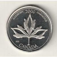 Канада 25 цент 2000 Гармония