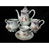 Чайный комплект старинный, Германия. C.Tielsch & Co. 1920-1930 гг