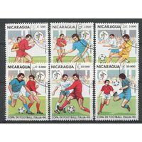 Футбол Чемпионат мира 1990 года Никарагуа 6 марок спорт