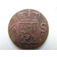 Нидерландская Индия 1/4 стювера 1836 г. S