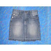 Юбка джинсовая р.128 (6-7 лет). Хорошее состояние, без проблем