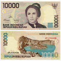 Индонезия. 10 000 рупий (образца 1998 года, выпуск 2001, P137d, UNC)