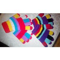 Перчатки двойные на 4-6 лет