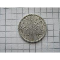 Французский Индокитай 10 центов 1945г.(B) редкая