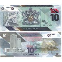 Тринидад и Тобаго 10 долларов  2021 год (полимер) UNC   НОВИНКА
