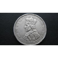 Литва 1936 г  10 лит ( серебро )