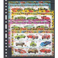 Спортивные Автомобили Великобритании Транспорт 2010 Пунтленд Сомали MNH полная серия 4 листа зуб лот РАСПРОДАЖА