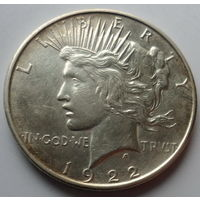 """США 1 доллар 1922 """"Голова """"Свободы"""", белоголовый орлан"""""""