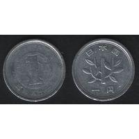 Япония _y74 1 йена 1976 год Хирохито(Сёва)-51 (h01)