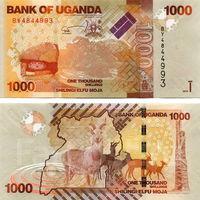 Уганда  1000 шиллингов 2017 год  UNC   НОВИНКА