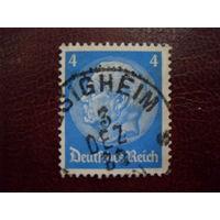 Гинденбург Mi:DR 467 Wz.2 1932 год Германия. Рейх