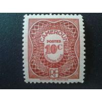 Камерун 1947 Колония Франции доплатная марка