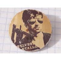 Значок Сильвестр Сталлоне из 80-х (сталь)