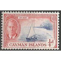 Кайманы. Король Георг VI. Яхта. 1938г. Mi#123.