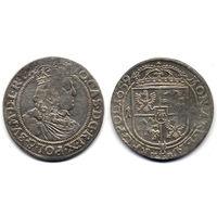 Орт 1659 TLB, Ян II Казимир Ваза. Более редкий вариант легенды на аверсе IO CAS D G REX POL & SV M D L R P. Коллекционное состояние