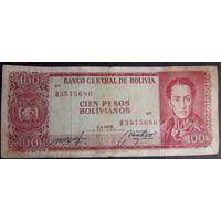 Боливия. 100 боливиано 1962
