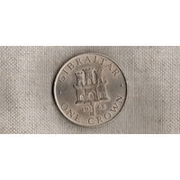 Гибралтар 1 крона 1968 /большая монета/(Va)
