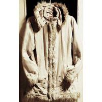 Куртка деми,ткань под замш р.44-46,светлый-светлый беж ...мягенькая,уютная.Быстро сохнет.