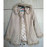 Куртка ,ткань под замш р.44-46,светлый-светлый беж ...мягенькая,уютная.Быстро сохнет.