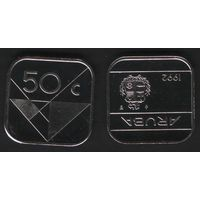 Аруба _km4 50 центов 1992 год (ba) (b06)
