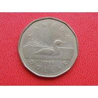 Канада 1 доллар, 1990г.