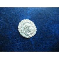 РЕДКАЯ МОНЕТА!!! Зубчатый Антониниан. Император ГОРДИАН 3-й 238 - 244 гг.  н.э.