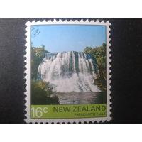Новая Зеландия 1976 водопад