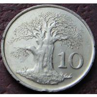 2419:  10 центов 1999 Зимбабве