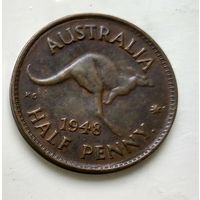 "Австралия 1/2 пенни, 1948 Точка после ""PENNY""  3-4-22"