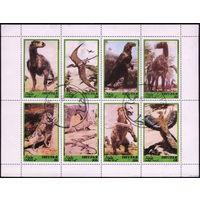 М.л. фауна. Оман Дофар (Дуфар) 1980. Динозавры. Малый лист. Гаш.