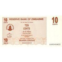 Зимбабве 10 центов 2006 UNC