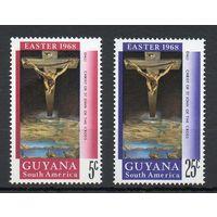 С Рождеством! Гвиана 1968 год серия из 2-х марок
