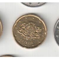 20 евроцентов  2014 года Латвии