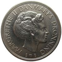 1 крона Дания 1976