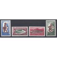 """Спорт. Олимпийские игры """"Мехико 1968"""". Дагомея. 1968. 4 марки. Michel N 380-383 (8,5 е)"""