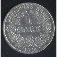 Германия 1 марка 1875 г. (Е). Хороший сохран!!!