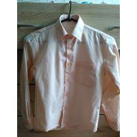 Рубашка для школьника 122-128 см. Персиковая