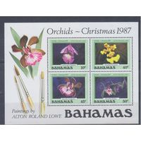 [1522] Багамы 1987. Флора.Цветы.Орхидеи. БЛОК.
