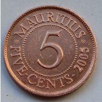 Маврикий, 5 центов 2005 г.