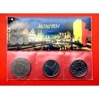 3 монеты номиналом в 1 франк разных типов. Бельгия. Старт с 10 копеек.