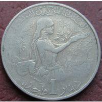 2555:  1 динар 1983 Тунис