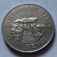 10 пенсов, Джерси 1987 г.
