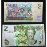 Банкноты мира. Фиджи, 2 доллара