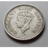 Индия 1/4 рупии 1945 г.