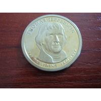США 1 доллар Томас Джефферсон 2007 S