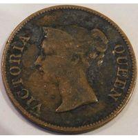 10. Саравак 1/4 цента 1845 год.